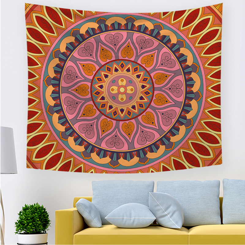 Monad Custom Indian Decorative Colorful Mandala Home Decor Wall Tapestry