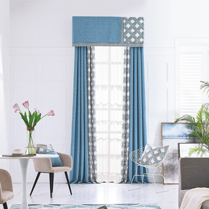 Monad Wholesale Jacquard Active Geometric Design Living Room Window Curtains For Kids