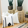 Wholesale Nordic Plain White Your Picture Solid Linen Cushion Cover For Sofa