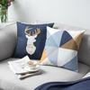 Monad Nordic Deer Home Decorative Yellow Geometric Printed Cushion Cover