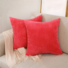 Monad Colorful Home Decor Custom Red Corduroy Throw Pillow Cover For Living Room