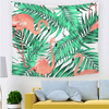 Monad Modern Colorful Flamingo Animal And Floral Wall Hangings Tapestry