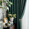 Monad Luxury Beautiful Blackout Living Room Set Texture Window Curtain For Home Decor