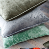 Monad Luxury Home Decorative Plain Crushed Velvet Cushion Covers With Piping