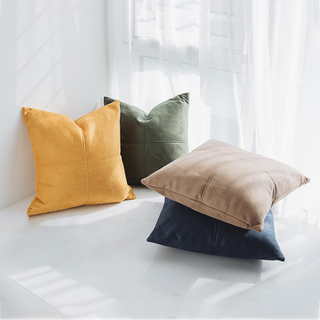 Monad Nordic Decoration Imitation Faux Leather Cushion Cover For Sofa