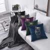 Monad New Arrival Embroidered Pet Cat Velvet Fabric Cushion Cusions Cover For Home Decor
