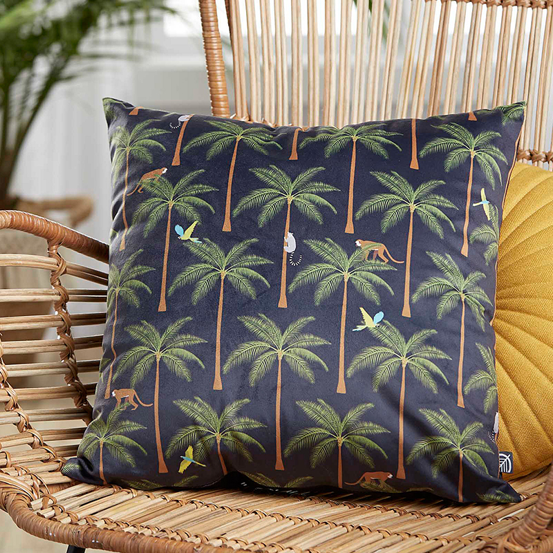 Monad China Supplier Home Decorative 18x18 Inch Soft Rainfores Printed Cushion Cover