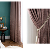 Monad Fashion Design Solid Veins Fabric 100 Polyester Blackout Curtains For Bedroom Windows